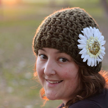 Instant Download Crochet Pattern Beanie Hat Pattern with Photos - Beanie Pattern - DIY beanie