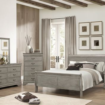 Gray Twin Sleigh Bedroom Set