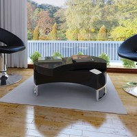 Coffee Table Shape-Adjustable High Gloss Black
