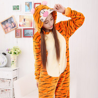 Cartoons Sleepwear Lovely Animal Couple Watch Set Halloween Costume [9221024516]