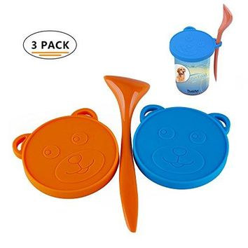 ThinkPet Food-Grade Silicone Pet Food Can Lid Cover and Scoop Kit