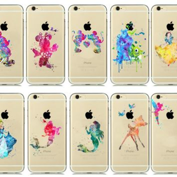 Watercolor Art Character  Cell Phone Case for iPhone 5s 5 6s 6 7 PLUS FREE SHIPPING