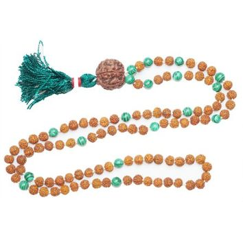 Mogul Yoga Gift Mala Green Jade Rudraksha Beads for Meditation Prayer Japamala Bracelet - Walmart.com
