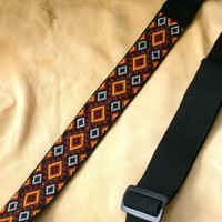 SOUTHWESTERN BLANKET - beaded guitar strap