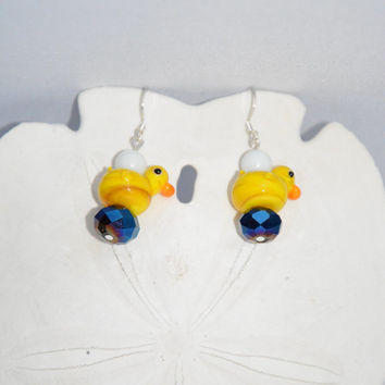 Yellow Ducky Earrings