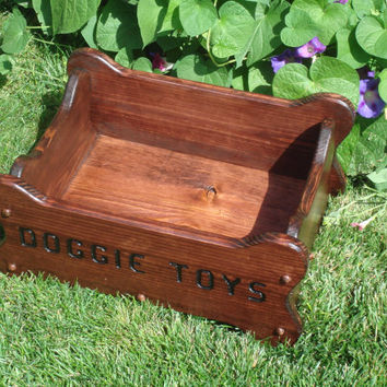 Dog Toy Box, Personalized Dog Toy Box, Wood Toy Box For Dogs, Bone Shaped Dog Toy Box,Custom Order