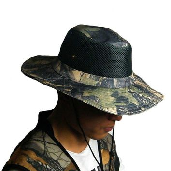 45b7ba4cadc Men Outdoor Fishing Apparel Caps Hats Vintage Camo Camouflage Hu