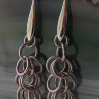 Sterling Silver Shaggy Loops Chainmaille Earrings