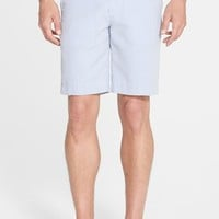 Fairway & Greene Flat Front Seersucker Shorts,