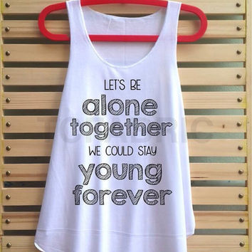 alone together shirt fall out boy tank top clothing vest tee tunic singlet women shirt - size S M