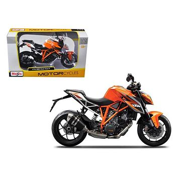 KTM 1290 Super Duke R Orange Motorcycle Model 1:12 by Maisto