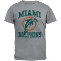 Miami Dolphins - Distressed Logo Soft T-Shirt