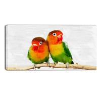 Love Birds Canvas Wall Art Print