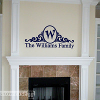 Monogram Frame Vinyl Wall Art FREE Shipping Fun by showcase66