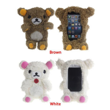 3D Teddy Bear Doll Toy Plush Phone cases For iphone 6 plus cell Phones back cover Housing