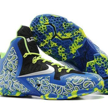 Nike LeBron James 11 P.S Elite Po Blue / Black Print Basketball Sneaker