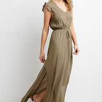 Missguided Slinky Side Split Maxi Dress From Missguided