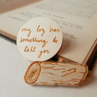 Twin Peaks Brooches - 'Log Lady'