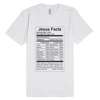 Jesus Facts Christian T-shirt-Unisex White T-Shirt