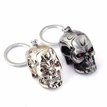 HSIC Brand Terminator Keychain Keyring Three-dimensional Punk Keyring Cool Skull Mask Key chains Accessories Cosplay HC11520