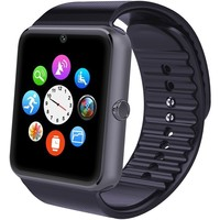 Smartwatch Android, Willful Smart Watch Telefono con SIM Card Slot Fotocamera Cronometro OLED Touch Screen Orologio Fitness Watch Android Wear per iPhone Samsung Sony Android iOS Smartphone per Donna Uomo Sports Running ( Pedometro, Calorie, Distanza, Moni