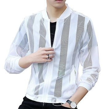 Men's Hollow Out Thin Mesh Jackets