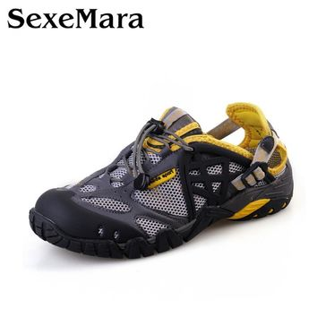 Breathable Shoes Mens/Womens Summer Leather Walking Shoes 2016 Waterproof Outdoor Beach Sandals Water Shoes for Men Sandals