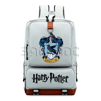 Student Backpack Children Harry Potter Boys Girls School Bags Canvas Backpack Hogwart Deathly Hallows Students Laptop Backpack for Teenagers Travel Bag AT_49_3
