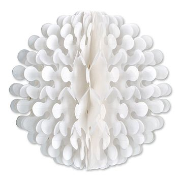"14"" White Tissue Flutter Ball Party Decorations"