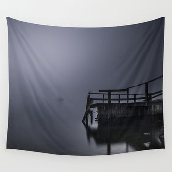 Misty sailors Wall Tapestry by HappyMelvin
