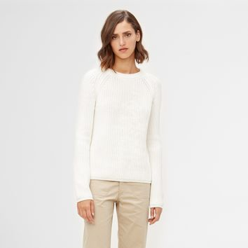 Cotton Fisherman Sweater - Ivory