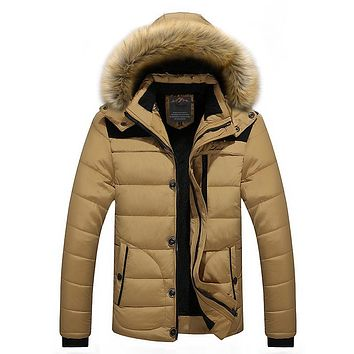 Men Winter Jacket Parka Coat