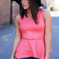 Party Peplum {Light Coral}