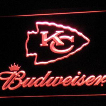 b278 Kansas City Chiefs Budweiser Bar LED Neon Sign with On/Off Switch 20+ Colors 5 Sizes to choose