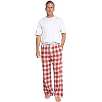 Shadow Plaid Flannel Pant in Barn Red by True Grit