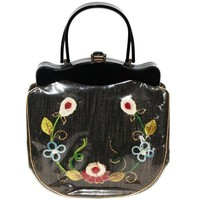 Unique Flowers 50s Vintage Bag