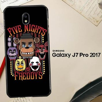 Five Nights At Freddy'S Characters Z4221 Samsung Galaxy J7 Pro SM J730 Case