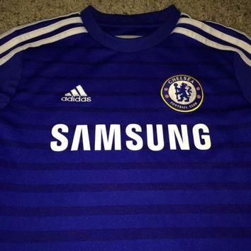 Sale!! Vintage Adidas CHELSEA fC Soccer Jersey CFC England Football Shirt