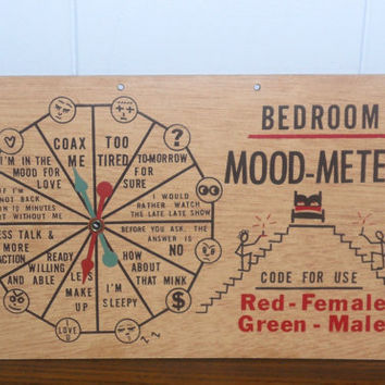Vintage 1960's Sign Bedroom Mood Meter by houseofheirlooms