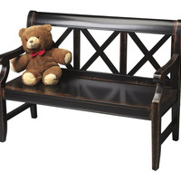 Butler Home Decor Furniture Bench Finish Type Moderate Midnight Rose 5048250