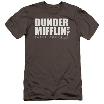 The Office - Dunder Mifflin Premium Canvas Adult Slim Fit 30/1 Shirt Officially Licensed T-Shirt