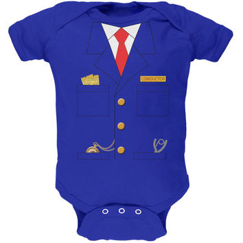 Halloween Train Conductor Costume Royal Soft Baby One Piece