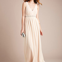 Rhinestone-Embellished Maxi Dress