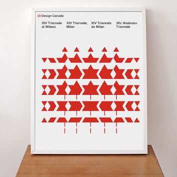 Mid Century Modern 1968 Milan Triennale Canada Poster Print Typography Abstract Art Herman Miller Eames / FREE SHIPPING WORLDWIDE