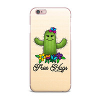 "Noonday Design ""Free Hugs Cactus"" Green Pastel iPhone Case"