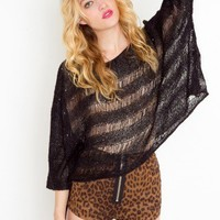 Shredded Sequin Knit - Black - NASTY GAL