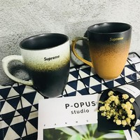 Supreme Pottery Cup Vintage Gradient Strong Character Innovative Matte Coffee Cup Mug [429896892452]