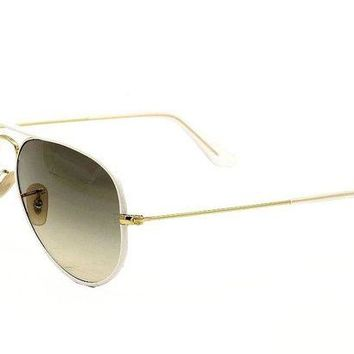 Kalete Ray Ban 3025JM 3025/JM RayBan 146/32 White Full Color Aviator Sunglasses 58mm