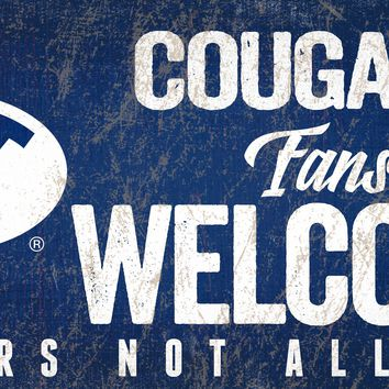 BYU Cougars Wood Sign