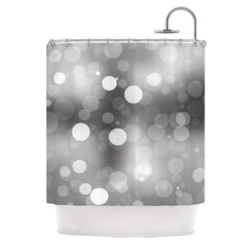 "KESS Original ""Spectral"" Gray Bokeh Shower Curtain"